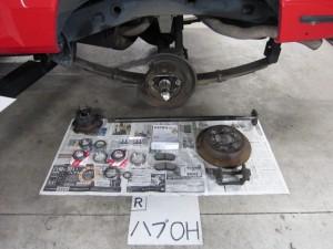 ランクル70 修理 オーバーホール リフトアップ
