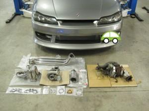 180SX S14 S15 シルビア タービン交換 冷却強化 オーバーヒート 熊本